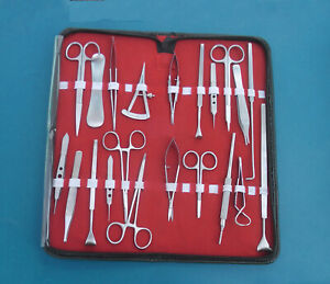 28 Pcs Eye Lid Micro Minor Surgery For Ophthalmic Instruments Set In Kit Pouch