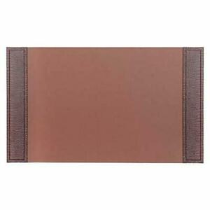 New Dacasso Crocodile Embossed Leather Desk Pad 34 X 20 Brown