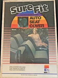 Mesh Blue Tweed Seat Cover Fits Most Vintage Classic Cars Low Back Bucket Nos