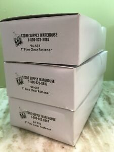 New Box 5000 1 Inch Fine Clear Price Tag Tagging Barbs Fasteners 94 603 Ssw