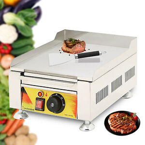 Commercial Electric Fried Flat Cooking Griddle Grill Iron Machine Furnace Sale