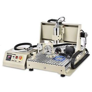 6040z 4 Axis Usb Cnc Router Engraver Wood Drill milling Machine Usb 1 5kw New