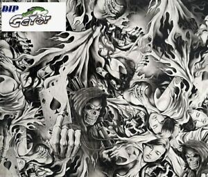 Wholesale Hydrographics Dip Film Water Transfer 1 20m Black Marble water Diop