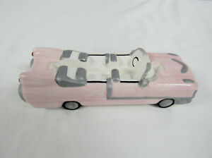 Vintage 1989 Mary Kay Cosmetics Pink Cadillac Ceramic Business Card Holder