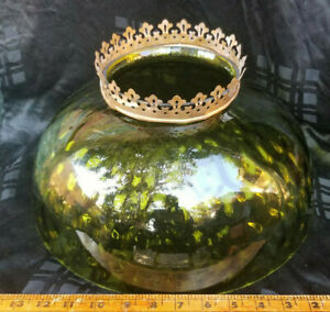 Antique Glass Lamp Shade For Restoration