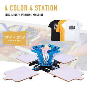 Preenex Screen Printing Machine 4 Silk Screen Stations For 4 Color Home Printing