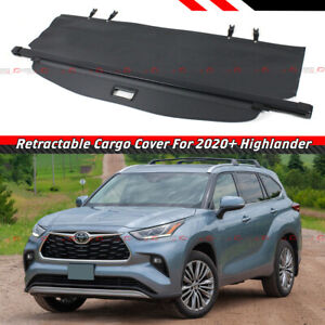 For 20 2021 Toyota Highlander Retractable Trunk Cargo Cover Luggage Shade Shield