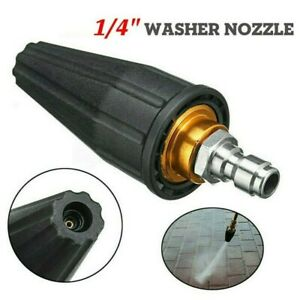 3600psi High Pressure Washer Turbo Nozzle Rotating Spray Tip 1 4 Quick Connect