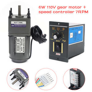 110v Electric Gear Motor variable Speed Reducer Controller 0 7 5 Rpm Large Torqu