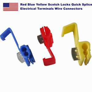 Red Blue Yellow Scotch Locks Quick Splice Electrical Terminals Wire Connectors