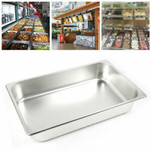 6 Pack 2 4 Full Size Deep Food Pan Stainless Steam Table Catering Buffet Pans
