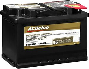 New Acdelco Gold 48agm Vehicle Auto Car Agm Bci Group 48 Battery