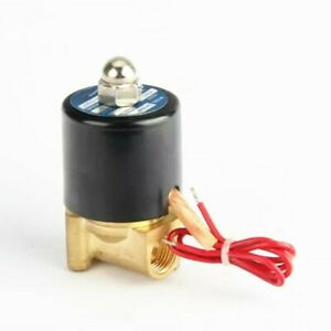 12v Dc 1 4 Electric Solenoid Valve Water Air Gas Fuels N c Brass