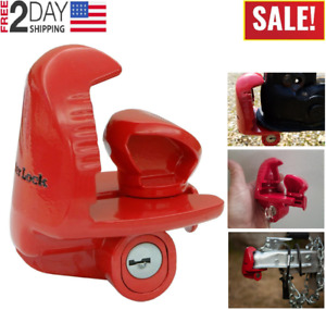 Trailer Coupler Lock Anti Theft Hitch Safety Tongue Locking Security Mechanism