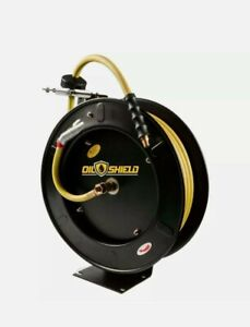 Rmx Oil Shield Hd Air Hose Reel Horizontal And Vertical Wall Mount 50ft