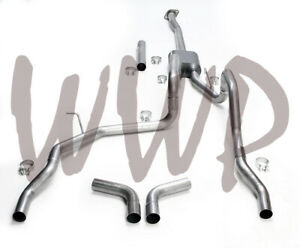 Dual Stainless Cat Back Exhaust System 09 14 Ford F150 4 6l 5 0l 5 4l V8 No Tips