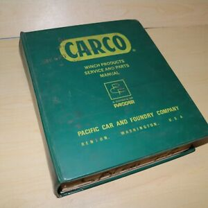 Carco Power Shift Winch Master Service Shop Repair Owner Operator Parts Manual