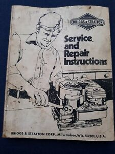 Vintage Briggs Stratton Service And Repair Instructions Manual 270962 Engine
