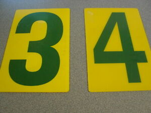 Acrylic Bp Gas Station Price Signs Number 3 4 Green Yellow 14 X 9 Plastic