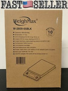 Weighmax W 2809 65lb 29 5kg Digital Postal Shipping Scale W Ac Adapter Included