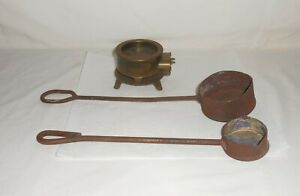 Vintage Electric Smelter no cord and Two Lead Pot Ladles Dippers $30.00