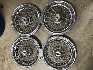 Set Of 4 1993 1996 Chevy Chevrolet Impala Caprice Hubcap Wire Wheel Cover Vtg