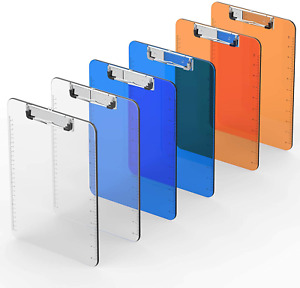 Plastic Clipboard set Of 6 Multi Pack Letter Size A4 Colorful Clipboards With