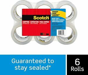 Scotch Heavy Duty Shipping Packaging Tape 1 88 Inches X 54 6 Yards 6 rolls 3850