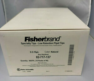 Fisherbrand Low Retention Pipet Tips 0 5 10 Ul