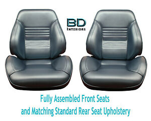 1967 Chevelle Touring Ii Front Bucket Seats Assembled Std Rear Seat Upholstery