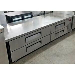 Turbo Air Tcbe 82sdr Refrigerated Chef Base 83 Stainless Steel Exterior