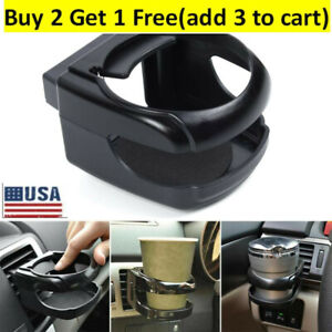 Black Car Accessoy Drink Cup Holder Air Vent Clip on Mount Water Bottle Stand