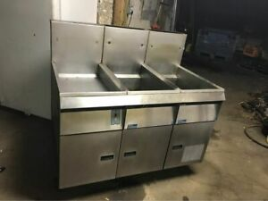 Pitco Twin Bay Fryer Dump Station Filtration Natural Gas