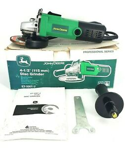 John Deere Et 3305 j 4 1 2 Inch Disc Grinder W box Manual And Wrench