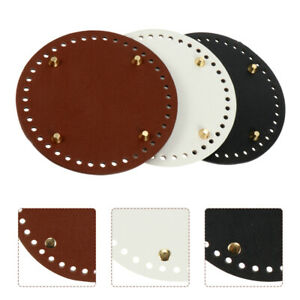 3pcs Smooth Pre drilled Holes Bag Making Accessories Bucket Bag Base