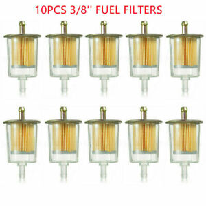 10x 3 8 Fuel Filters Industrial Universal Motorcycle Inline Gas Oil Fuel Line