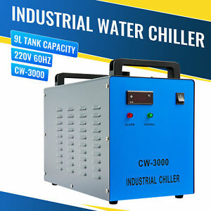Cw 3000 220v Water Chiller For 50w 60w 80w 100w Co2 Laser Engraving Machines 9l