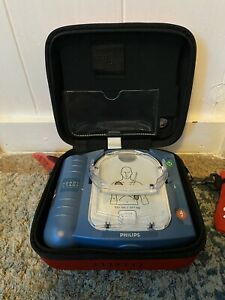 Philips Heartstart Hs1 Onsite Aed With Case Battery Smart Pads M5066a