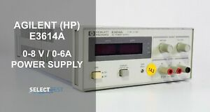 Agilent hp E3614a 0 8 Volts 0 6 Amps Power Supply look ref 502g