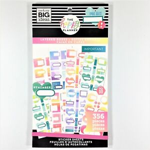 The Happy Planner Layered Boxes Sticker Book Me My Big Ideas Mambi