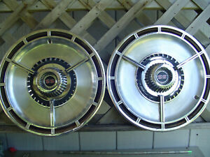 Two Nice Vintage 1964 64 Chevrolet Chevy Impala Chevelle Ss Hubcaps Wheel Covers