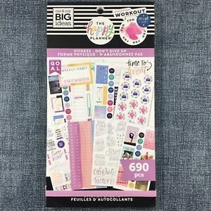 The Happy Planner Fitness Don t Give Up Sticker Book Me My Big Ideas Mambi