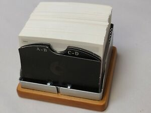 Eldon Expressions Rolodex Compatible Business Card Holder With Extras