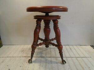Vintage Piano Stool Vintage 1800s Chas Parker