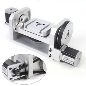 Cnc Rotary Indexer Table For Engraver Dividing Head 5th 4th Spiral Axis 6 1 8 1