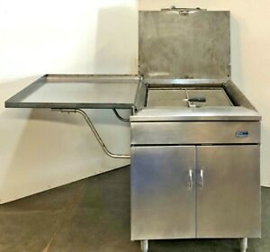 Pitco Frialator Commercial Donut Fryer Model 24ruf Ms N Gas save Nice We Ship