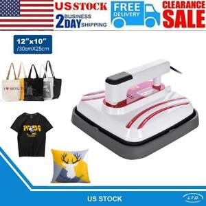 Portable Heat Press 12 10in 800w Automatic Heat Press 3 Modes For T shirts Bags