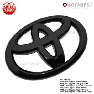 Toyota Camry Avalon Highlander Prius V Front Grill Overlay Add On Cover Emblem Fits 2013 Camry