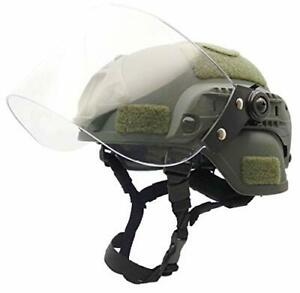 Airsoft Tactical MICH2000 Helmet with Visor Face Shield Face Protection Green $59.63