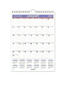 2021 At a glance Pm1 28 Monthly Wall Calendar 8 X 11